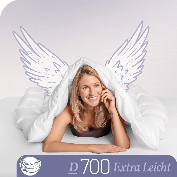 Schlafstil Gänsedaunenbettdecke D700, Extra Leicht, Titelbild