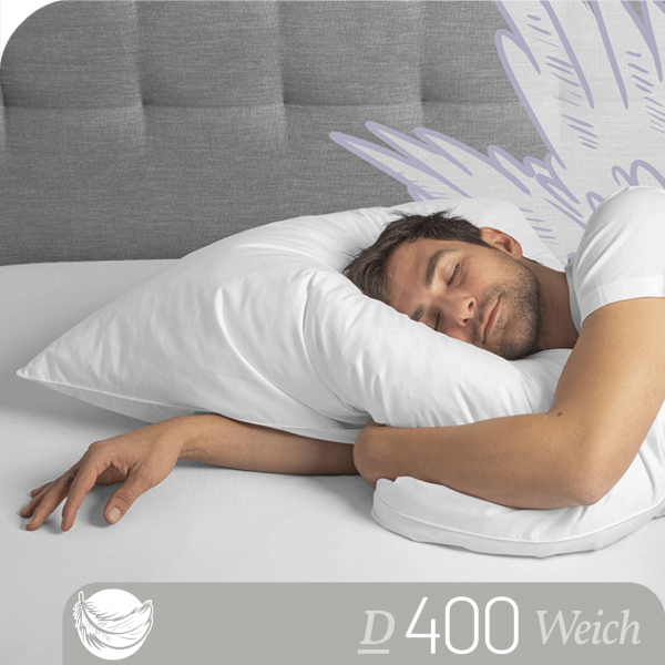 Schlafstil Feder- und Daunenkissen D400, Titelbild
