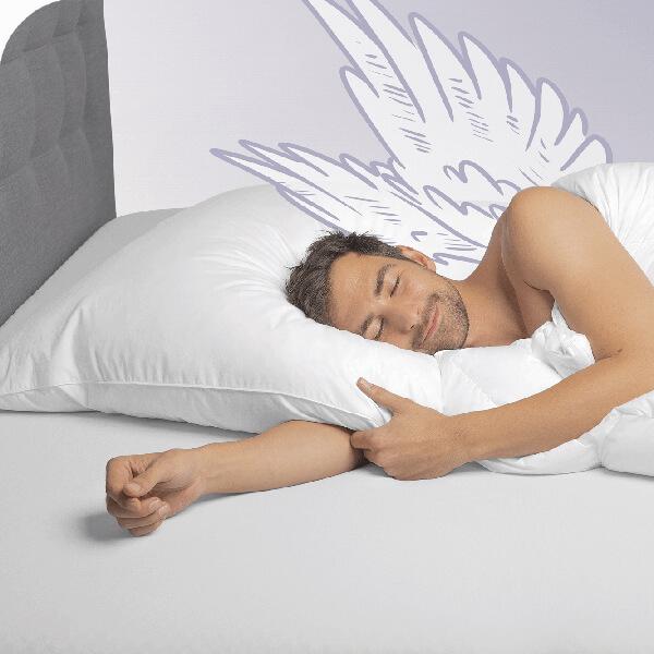 Schlafstil 3-Kammerkissen D600 Füllung Außen 90/% Gänsedaunen// 10/% Gänsefedern