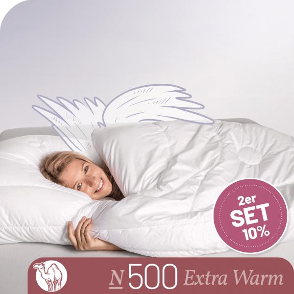 Schlafstil Kamelhaarbettdecke N500, Extra Warm, Titelbild