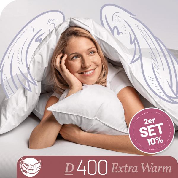Schlafstil Daunenbettdecke D400, Extra Warm, Titelbild