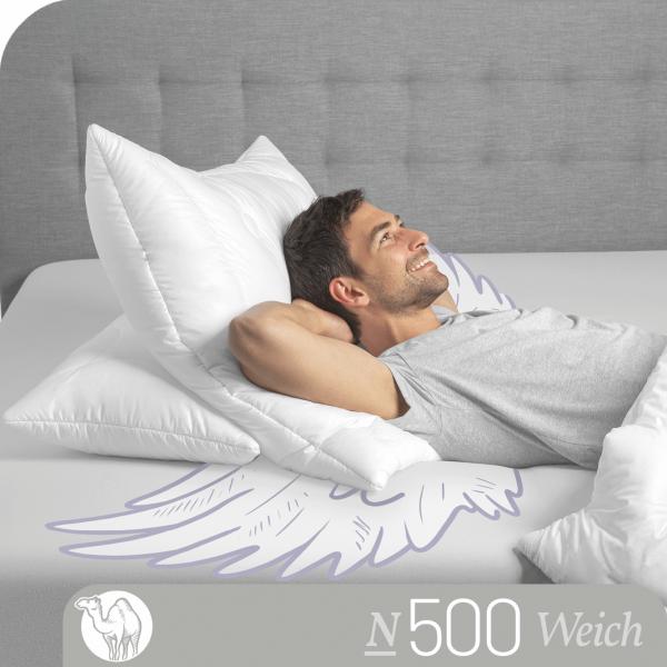 Schlafstil 3-Kammer Kamelhaarkissen N500, Titelbild