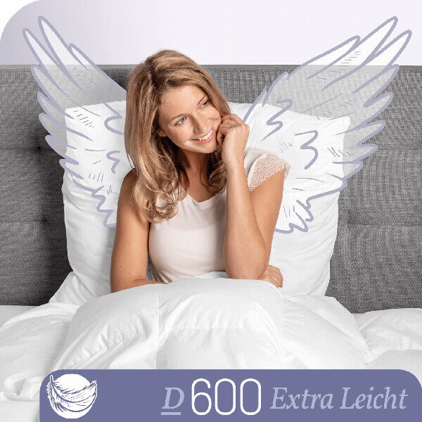 Schlafstil Gänsedaunenbettdecke D600, Extra Leicht, Titelbild