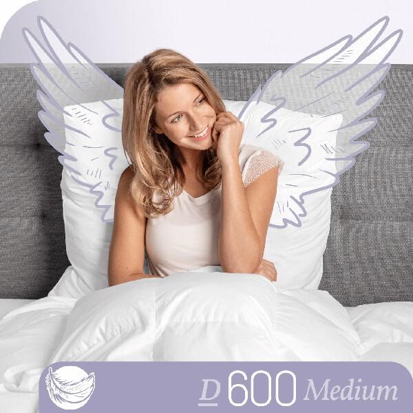 Schlafstil Gänsedaunenbettdecke D600, Medium, Titelbild