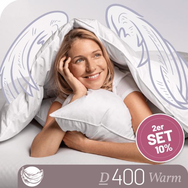 Schlafstil Daunenbettdecke D400, Warm, Titelbild