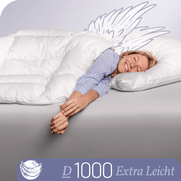 Schlafstil Eiderdaunenbettdecke D1000, Extra Leicht, Titelbild