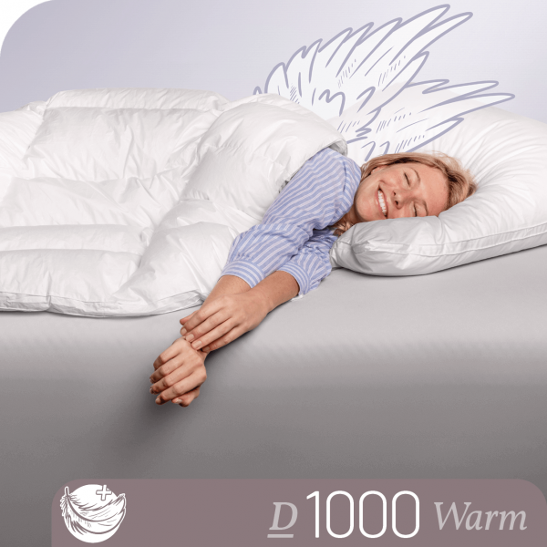 Schlafstil Eiderdaunenbettdecke D1000, Warm, Titelbild