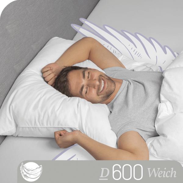 Schlafstil Gänsefeder- und Daunenkissen D600, Titelbild