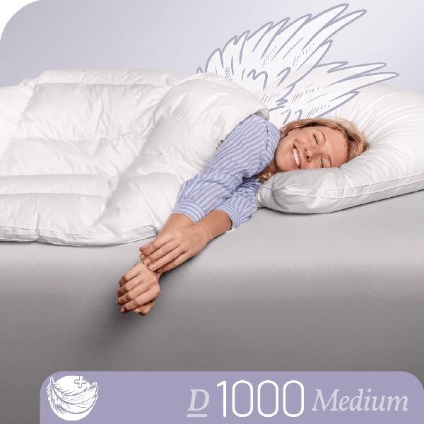 Schlafstil Eiderdaunenbettdecke D1000, Medium, Titelbild