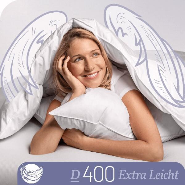 Schlafstil Daunenbettdecke D400, Extra Leicht, Titelbild