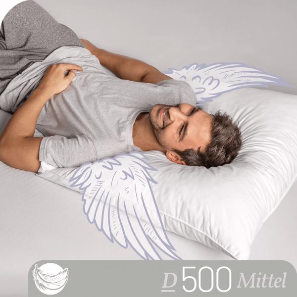 Schlafstil 3-Kammer Daunenkissen D500, Titelbild