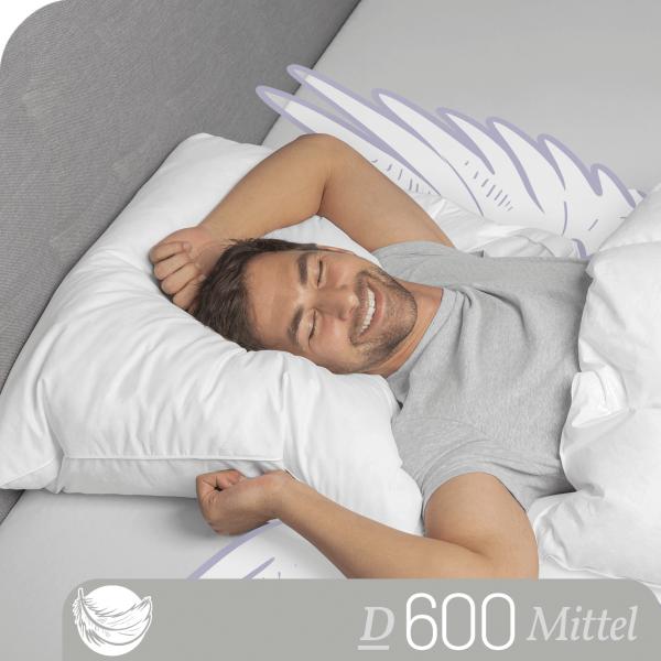 Schlafstil 3-Kammer Daunenkissen D600, Titelbild