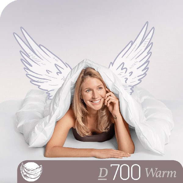 Schlafstil Gänsedaunenbettdecke D700, Warm, Titelbild