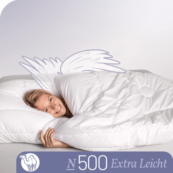 Schlafstil Kamelhaarbettdecke N500, Extra Leicht, Titelbild