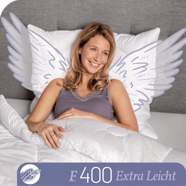 Schlafstil Faserbettdecke F400, Extra Leicht, Titelbild