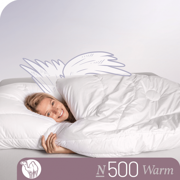 Schlafstil Kamelhaarbettdecke N500, Warm, Titelbild