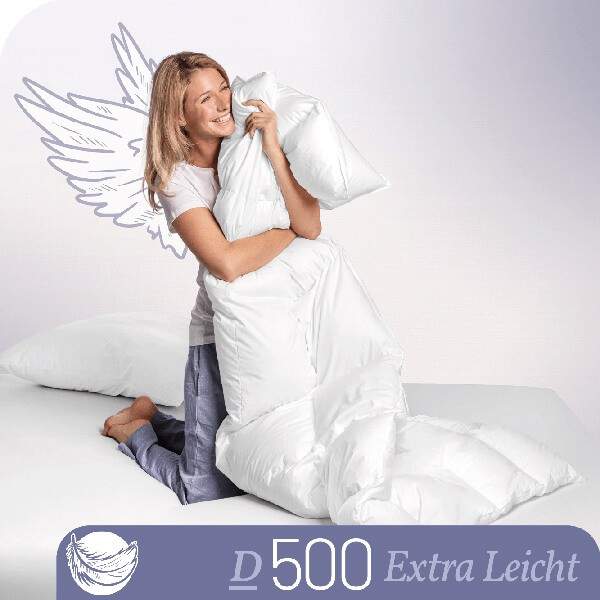 Schlafstil Daunenbettdecke D500, Extra Leicht, Titelbild
