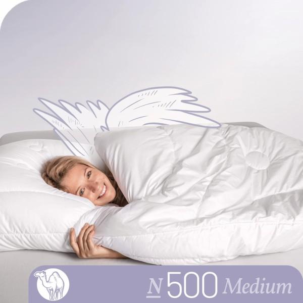 Schlafstil Kamelhaarbettdecke N500, Medium, Titelbild