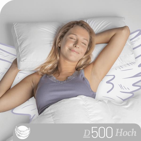 Schlafstil Daunen Nackenstützkissen D500, Titelbild