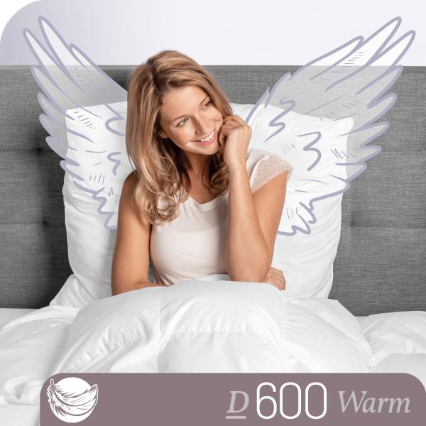 Schlafstil Gänsedaunenbettdecke D600, Warm, Titelbild