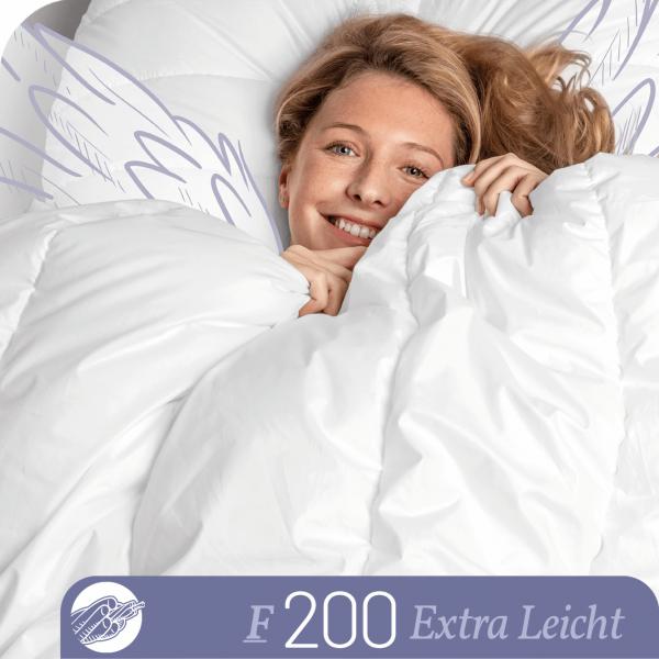 Schlafstil Faserbettdecke F200, Extra Leicht, Titelbild